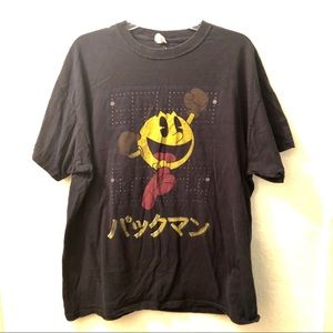 🕹Vintage Pac-Man T-shirt with Japanese writing L